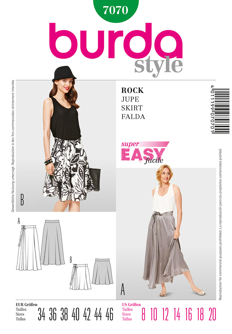 Burda Misses Skirts 7070
