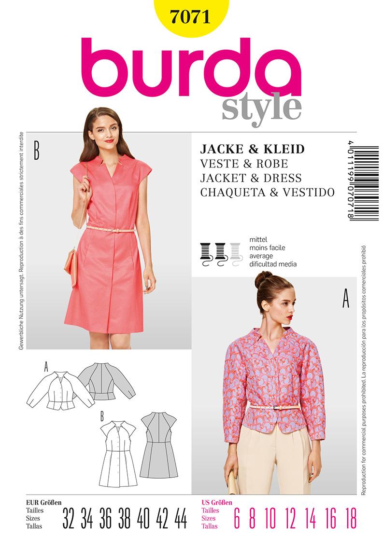 Burda Misses Jacket and Dress 7071