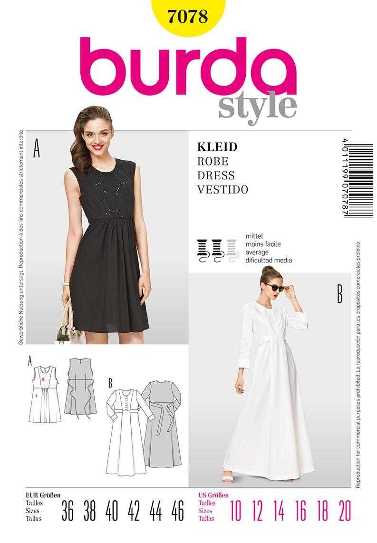 Burda Misses Dress 7078