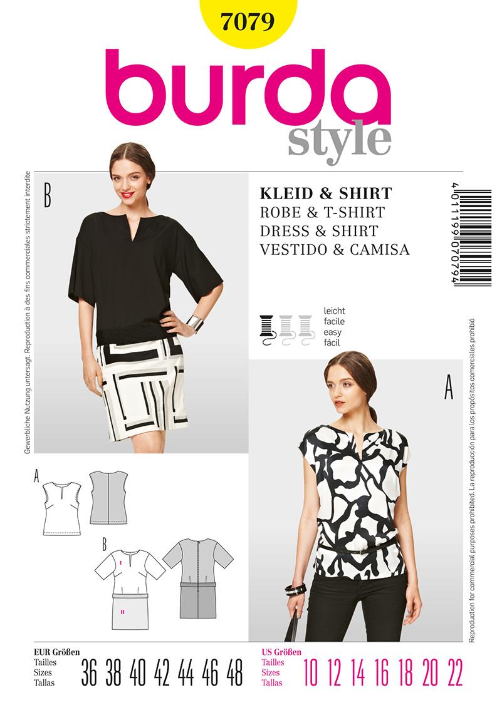 Burda Misses Dress and shirt 7079
