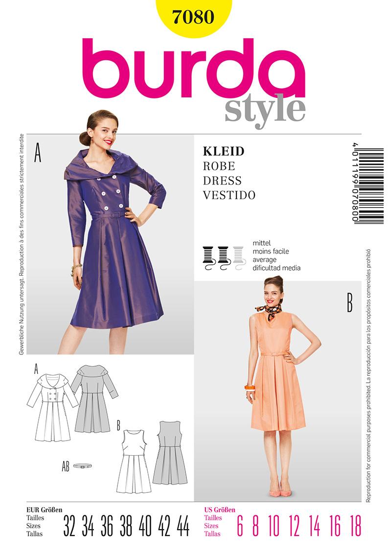 Burda Misses Dress 7080