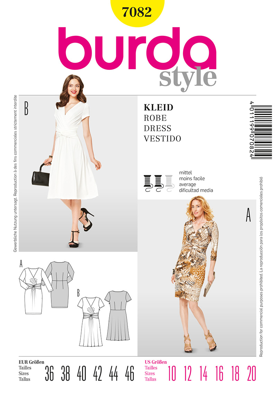 Burda Misses Dress 7082