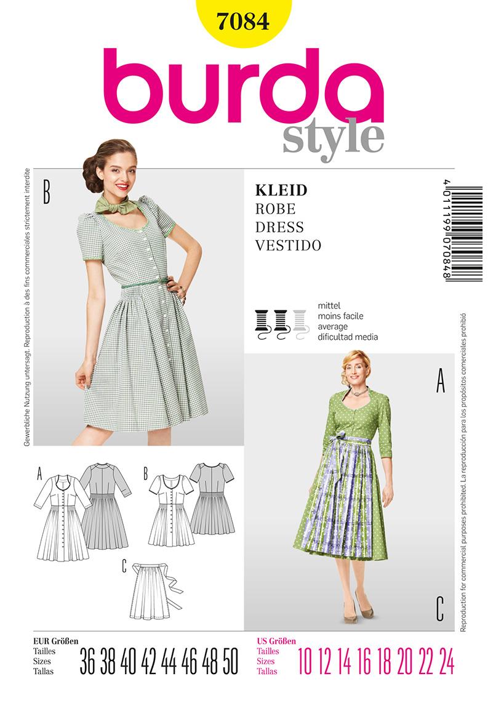 Burda Misses Dress and Apron 7084