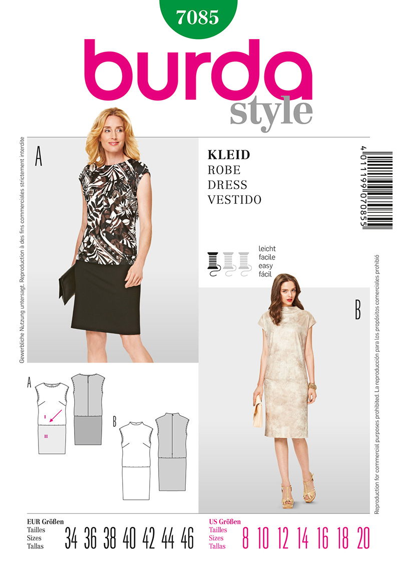 Burda Misses Dress 7085
