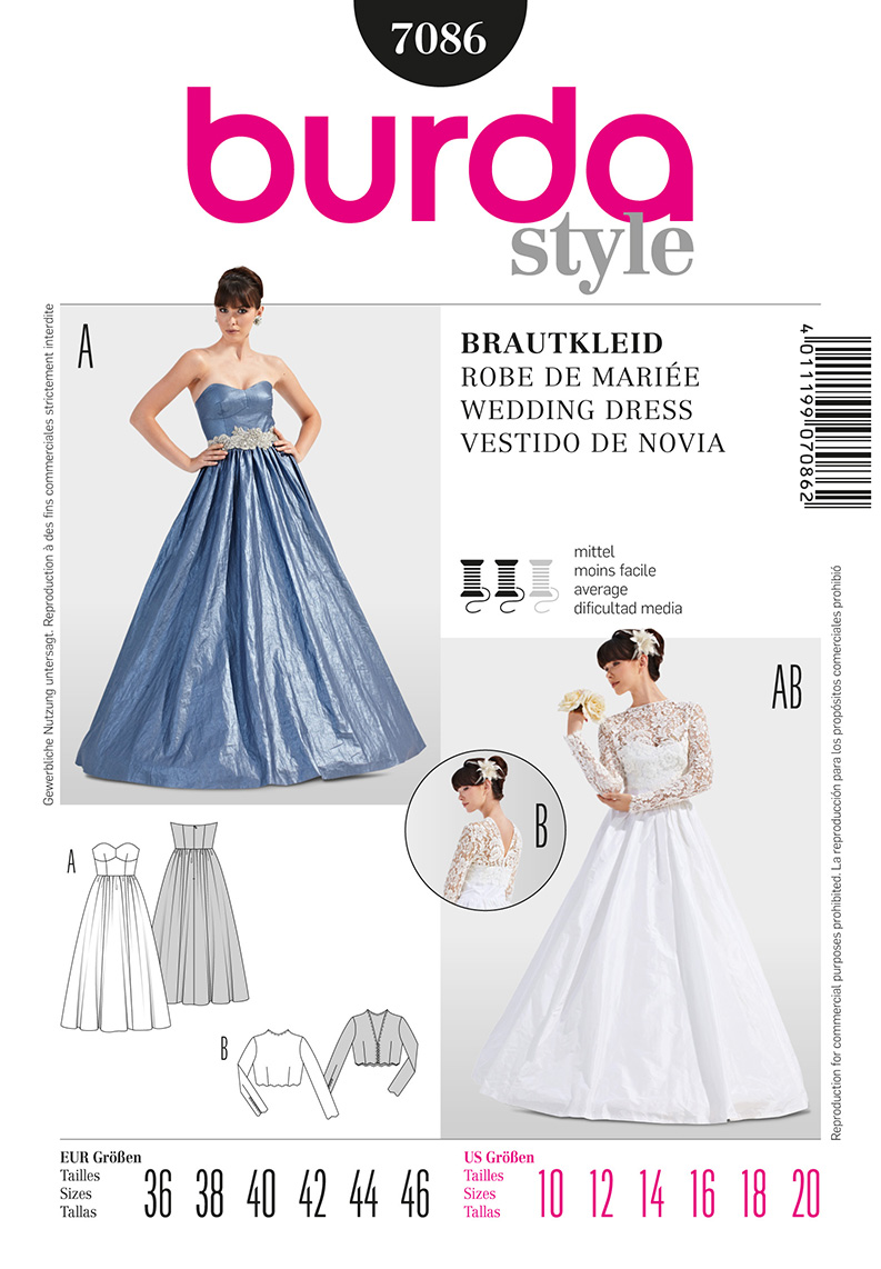 Wedding dress 7468 - Burda Dresses Formalwear 7086 Misses Formal Dress