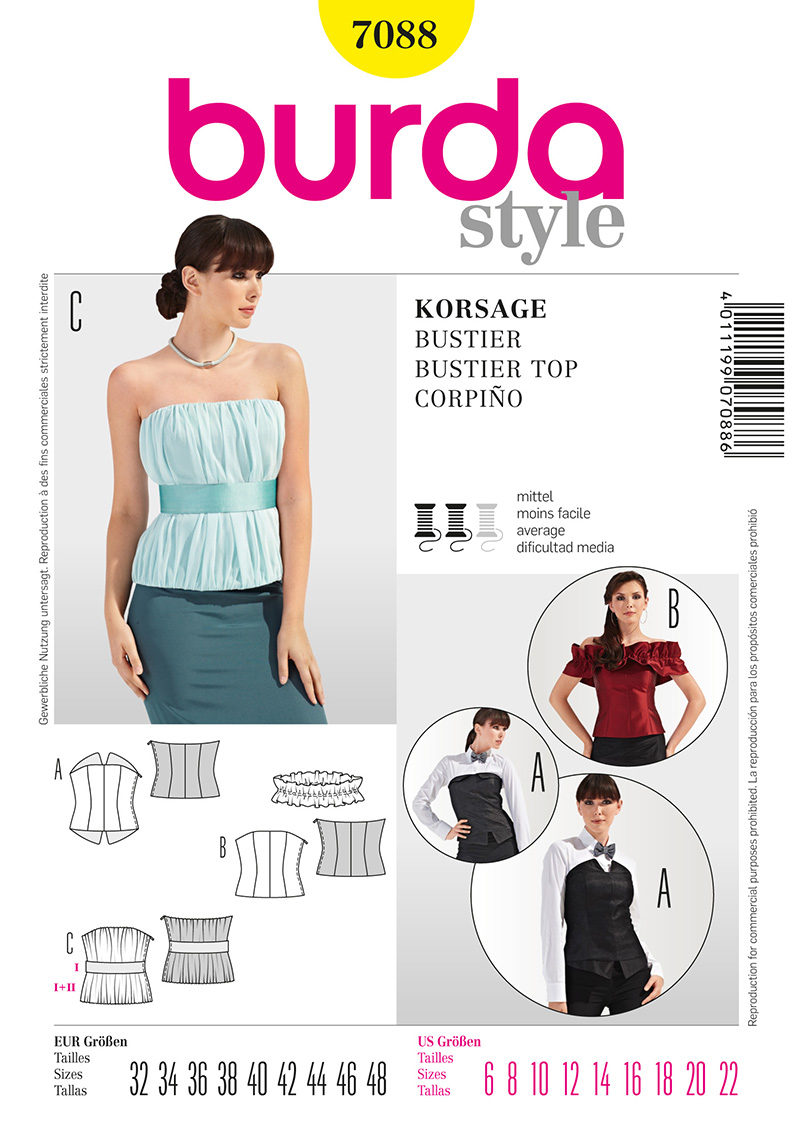 Burda Misses Bustier Top 7088