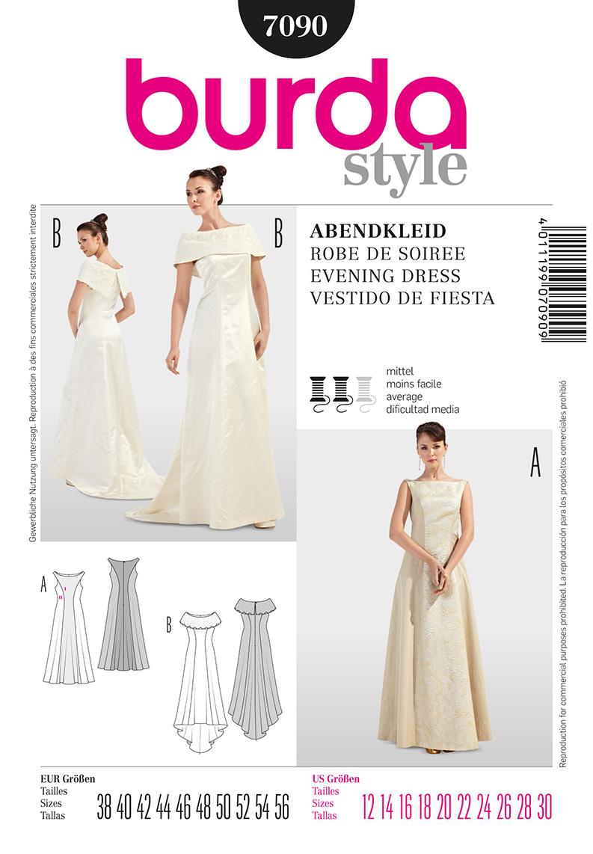 Burda Misses formal Dress 7090