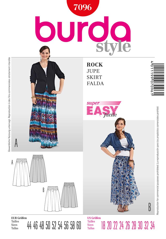 Burda Misses Skirt 7096