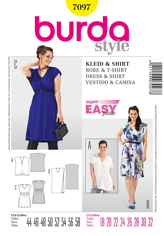 Burda Misses Dress and Shirt 7097
