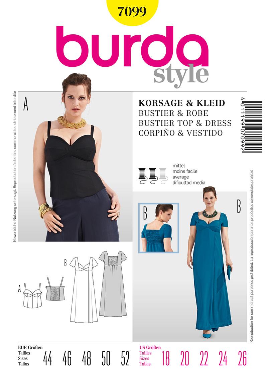 Burda Women's Formal Dress and Top 7099