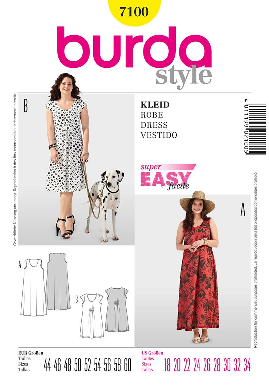 Burda Women's  Dresses 7100