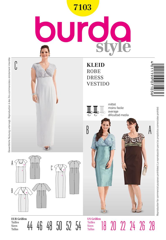 Burda Women's Dresses 7103
