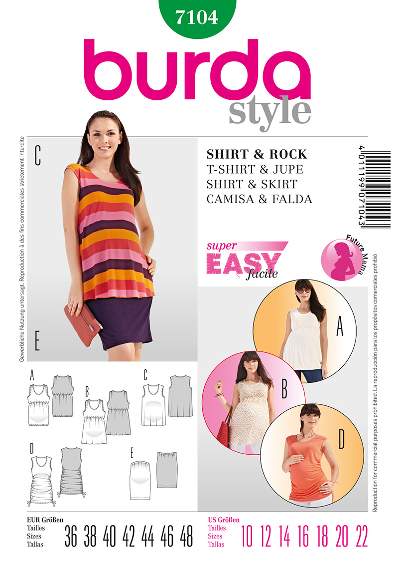 Burda Maternity Tops 7104