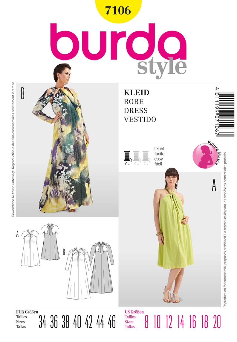 Burda Maternity Dress 7106