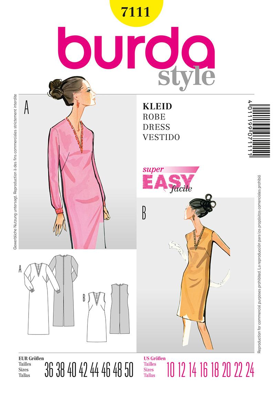 Burda Misses Dress 7111
