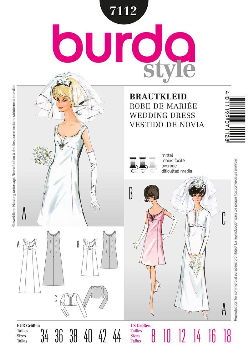 Burda Misses Formal Gown and Jacket 7112