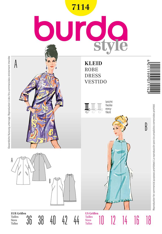 Burda Misses Dress 7114