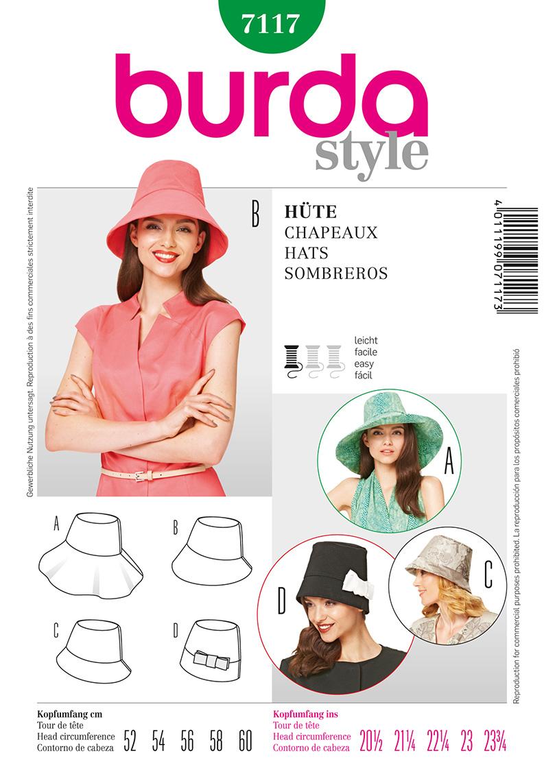 Burda Misses Hats 7117