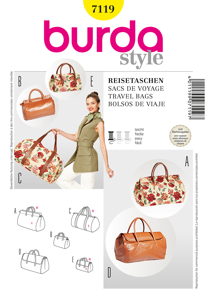 Burda Travel Bags 7119