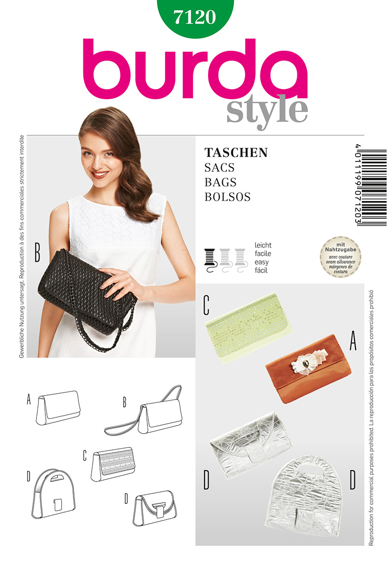 Burda Evening bag and clutch 7120