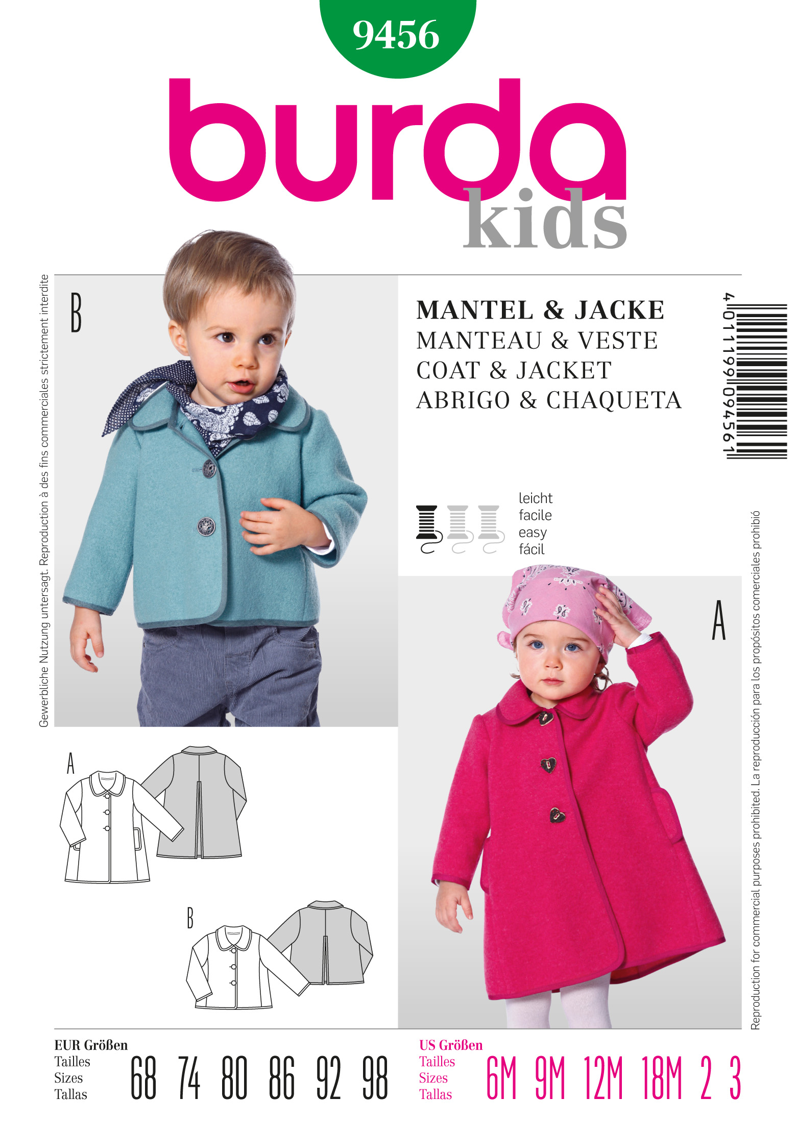 Burda Coat 9456
