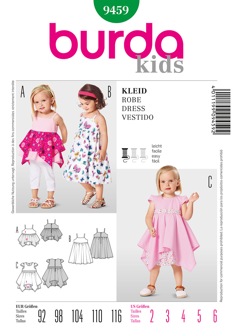 Burda Toddler and Children's Dress 9459