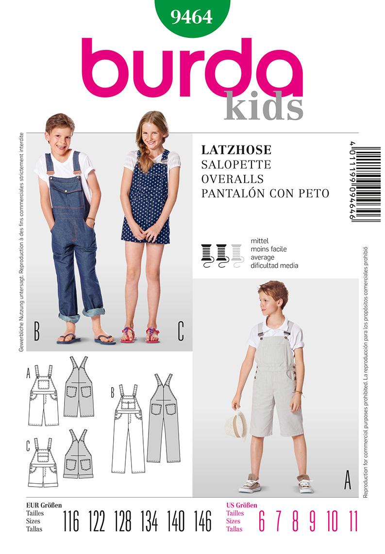 Burda Children's Overalls 9464