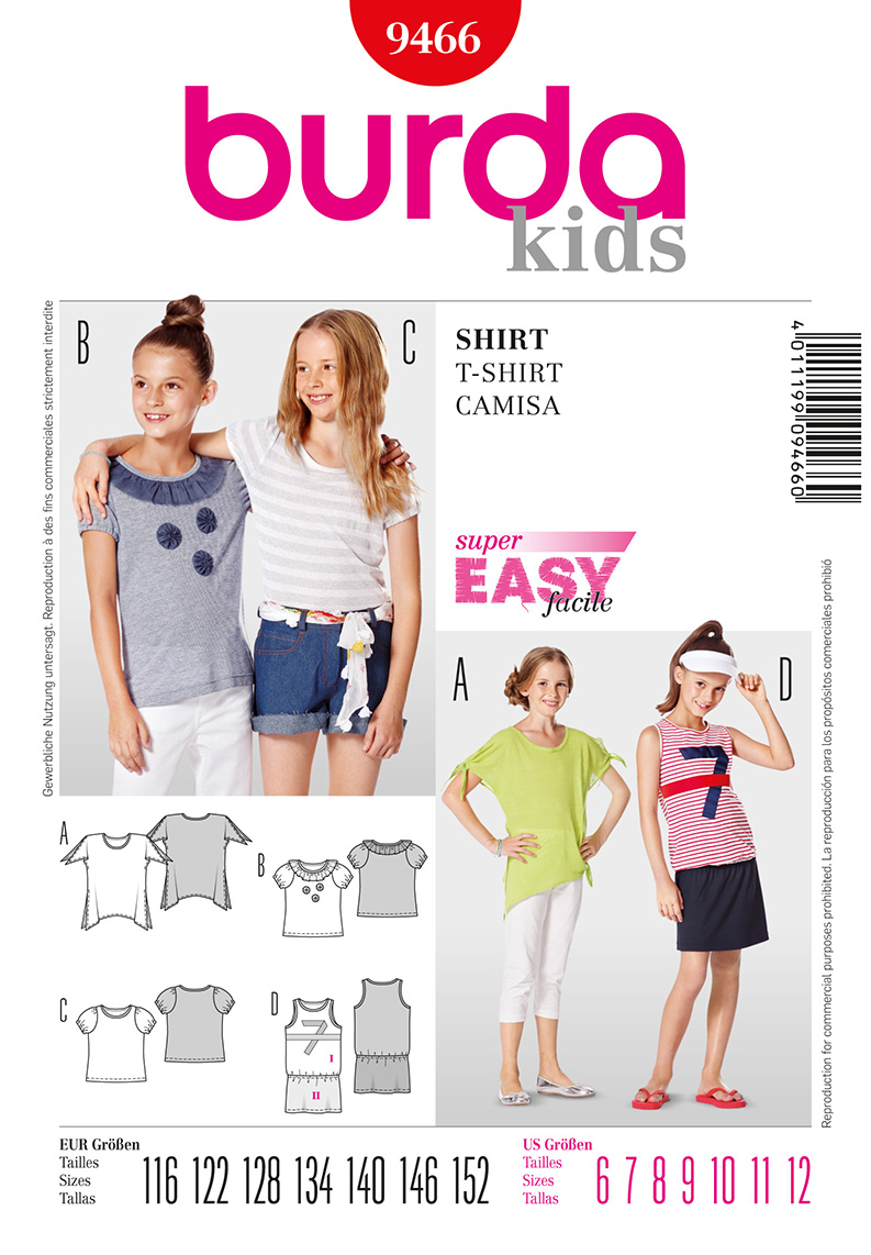 Burda Children's Shirts 9466
