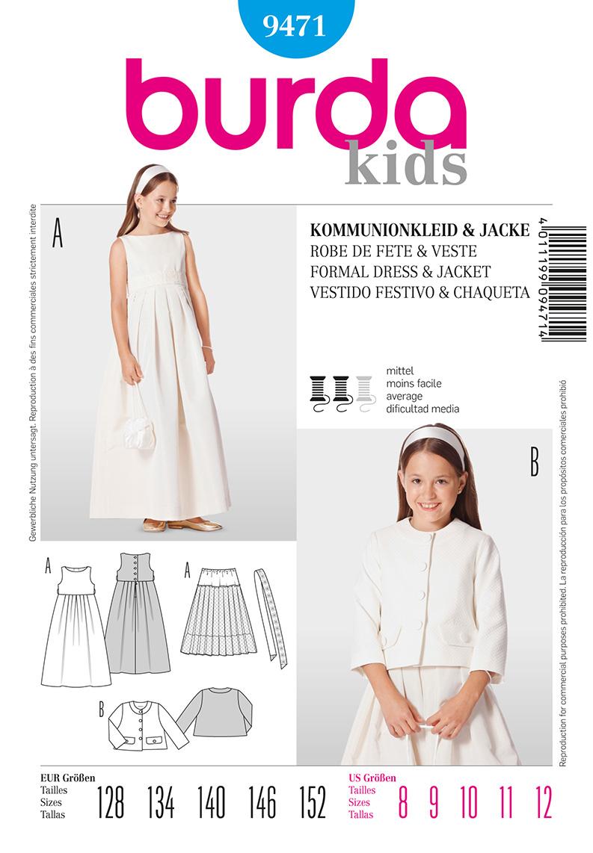 Burda Children's Formal Dress and Jacket 9471