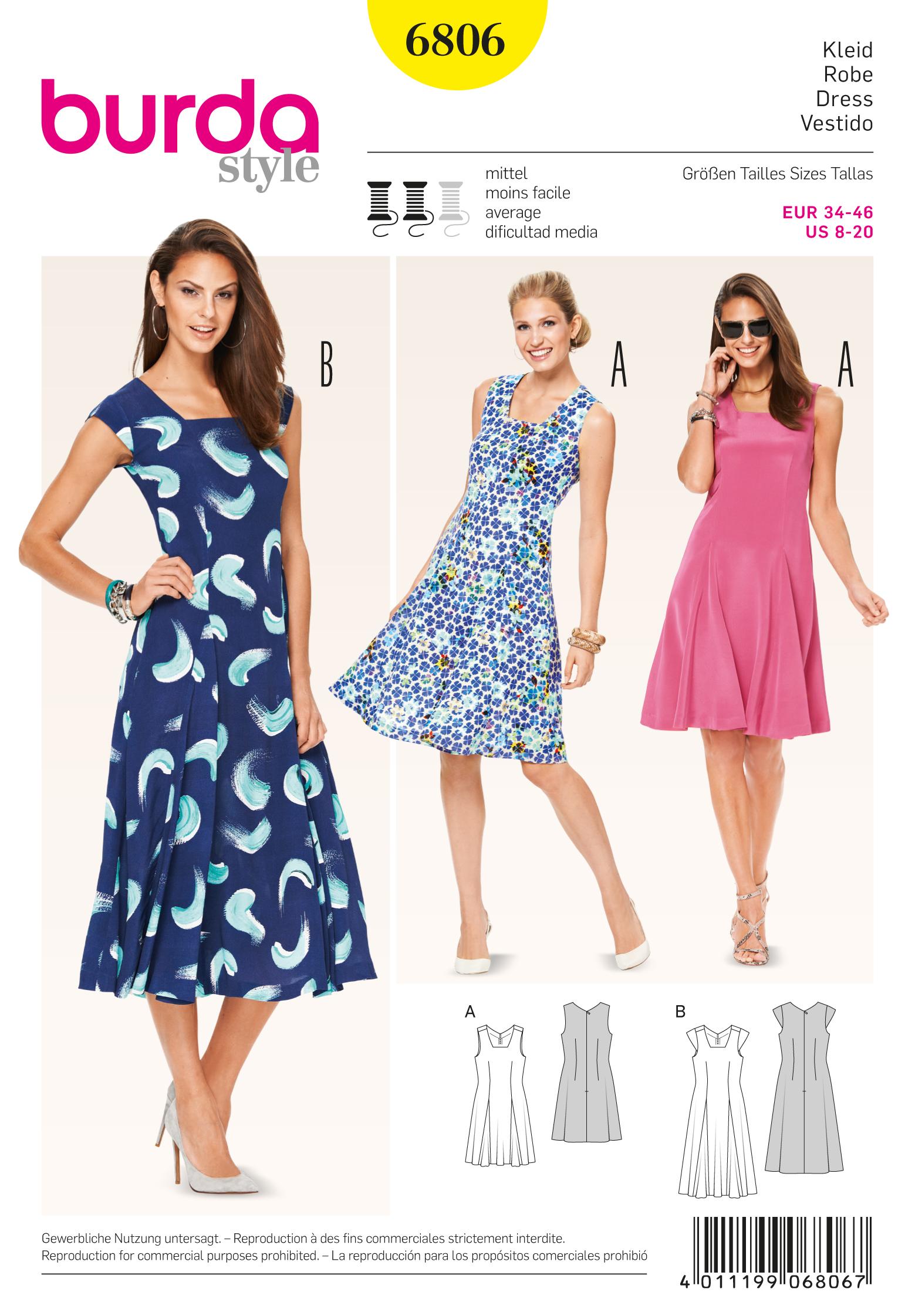 Burda 6806 Burda Style Dresses Sewing Pattern