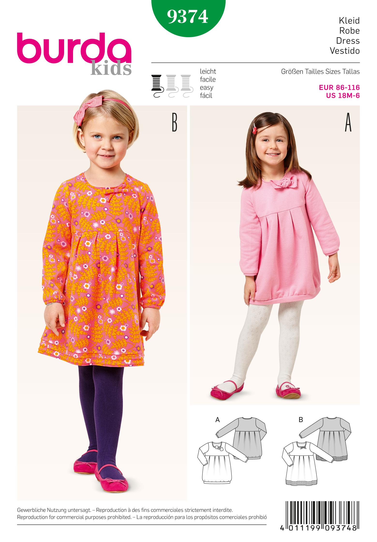 Burda 9374 Sewing Pattern