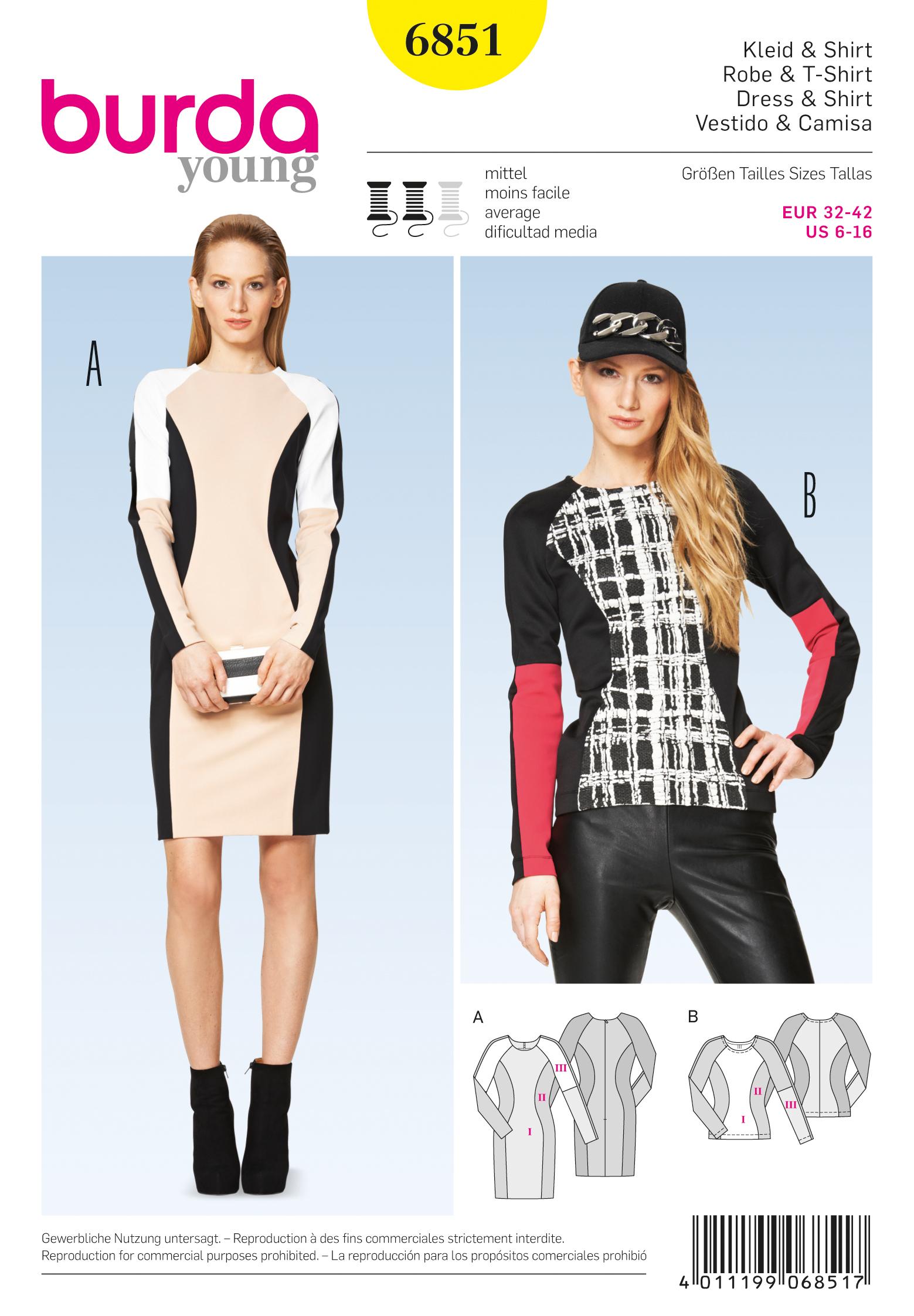 Burda Dresses/Tops 6851