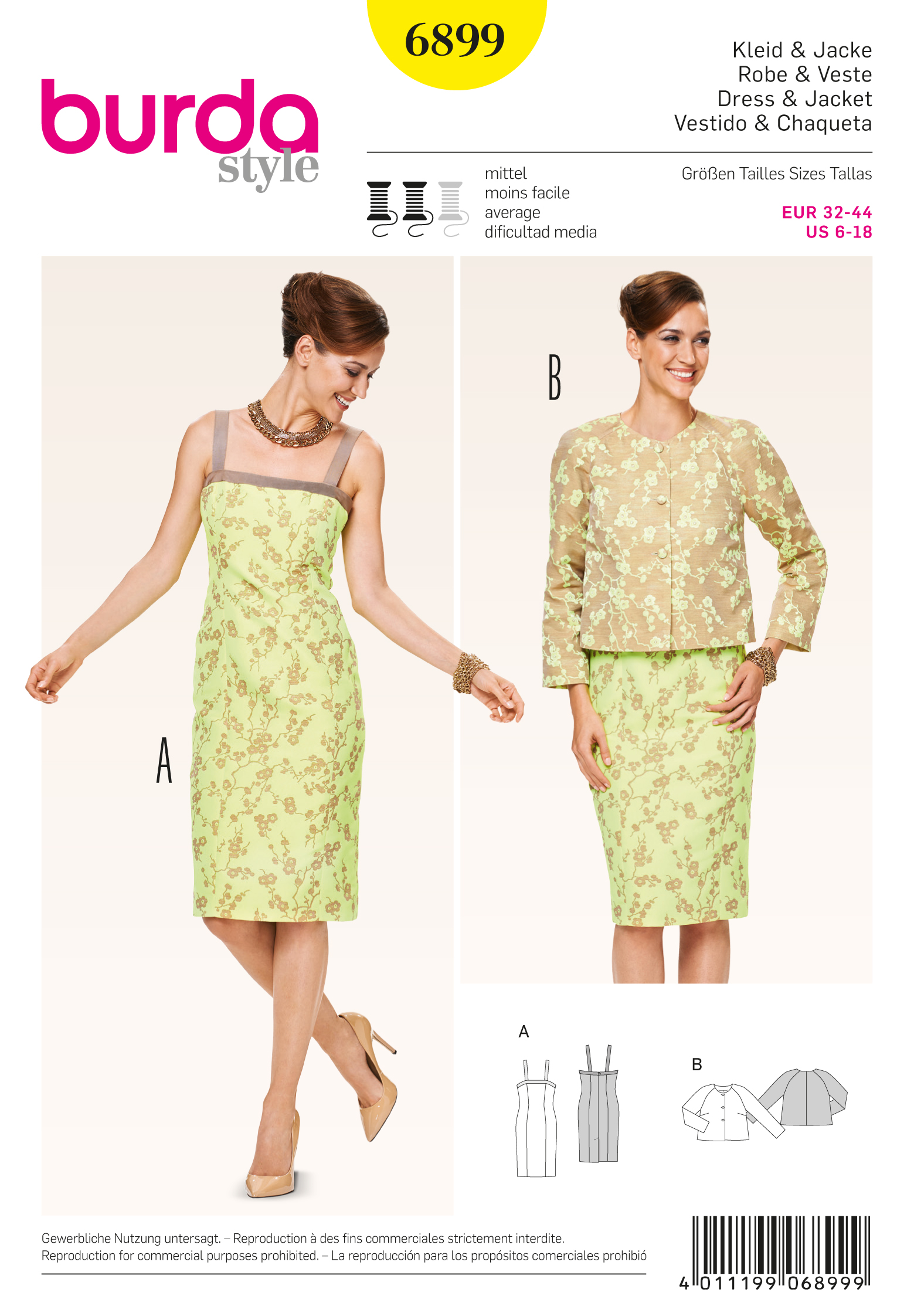 Burda Coordinates, Pantsuits, Suits 6899