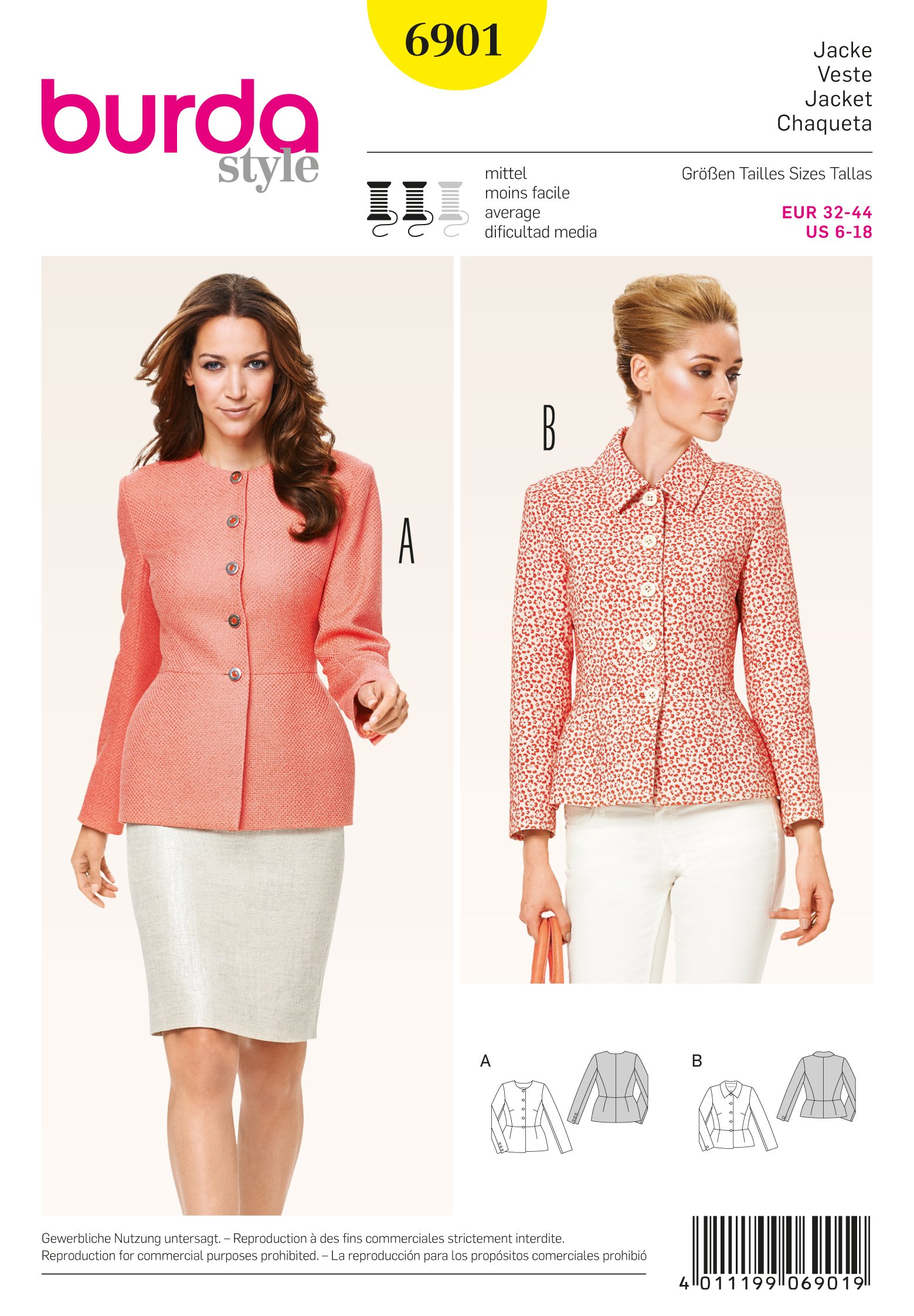 Burda Jackets, Coats, Vests 6901
