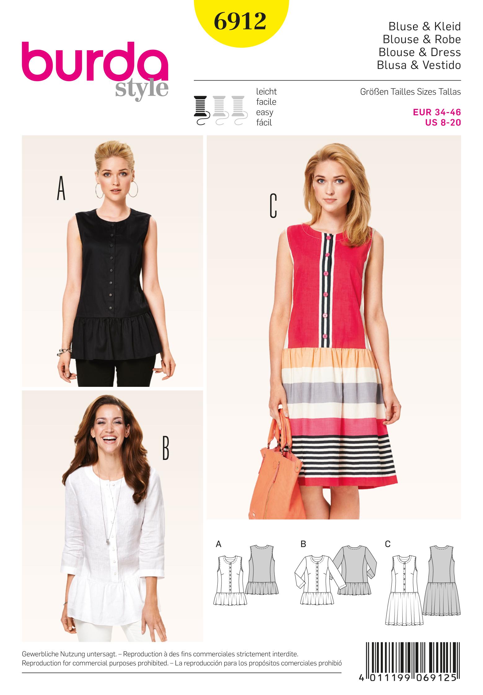 Burda Dresses 6912