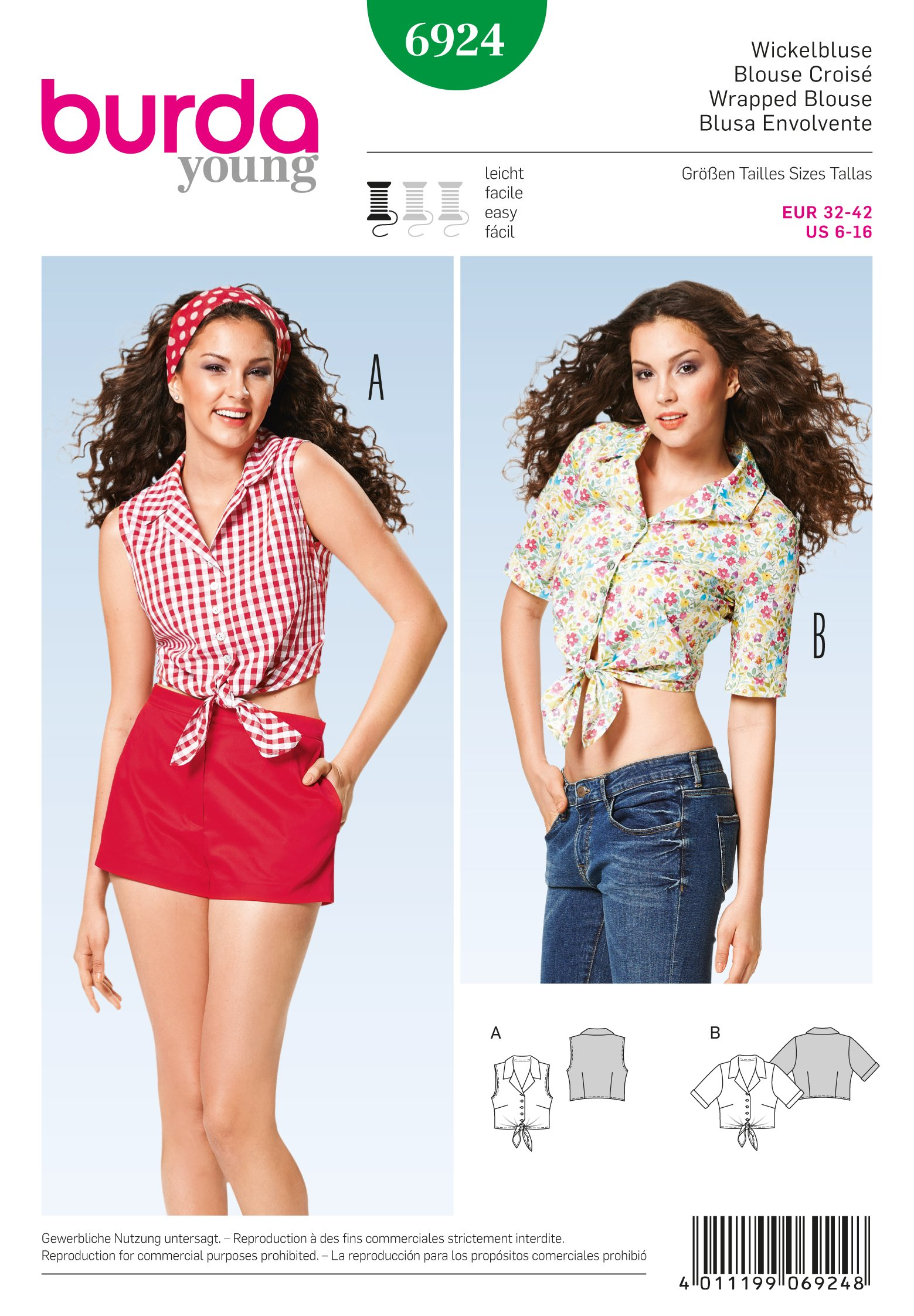 Burda Tops, Shirts, Blouses 6924
