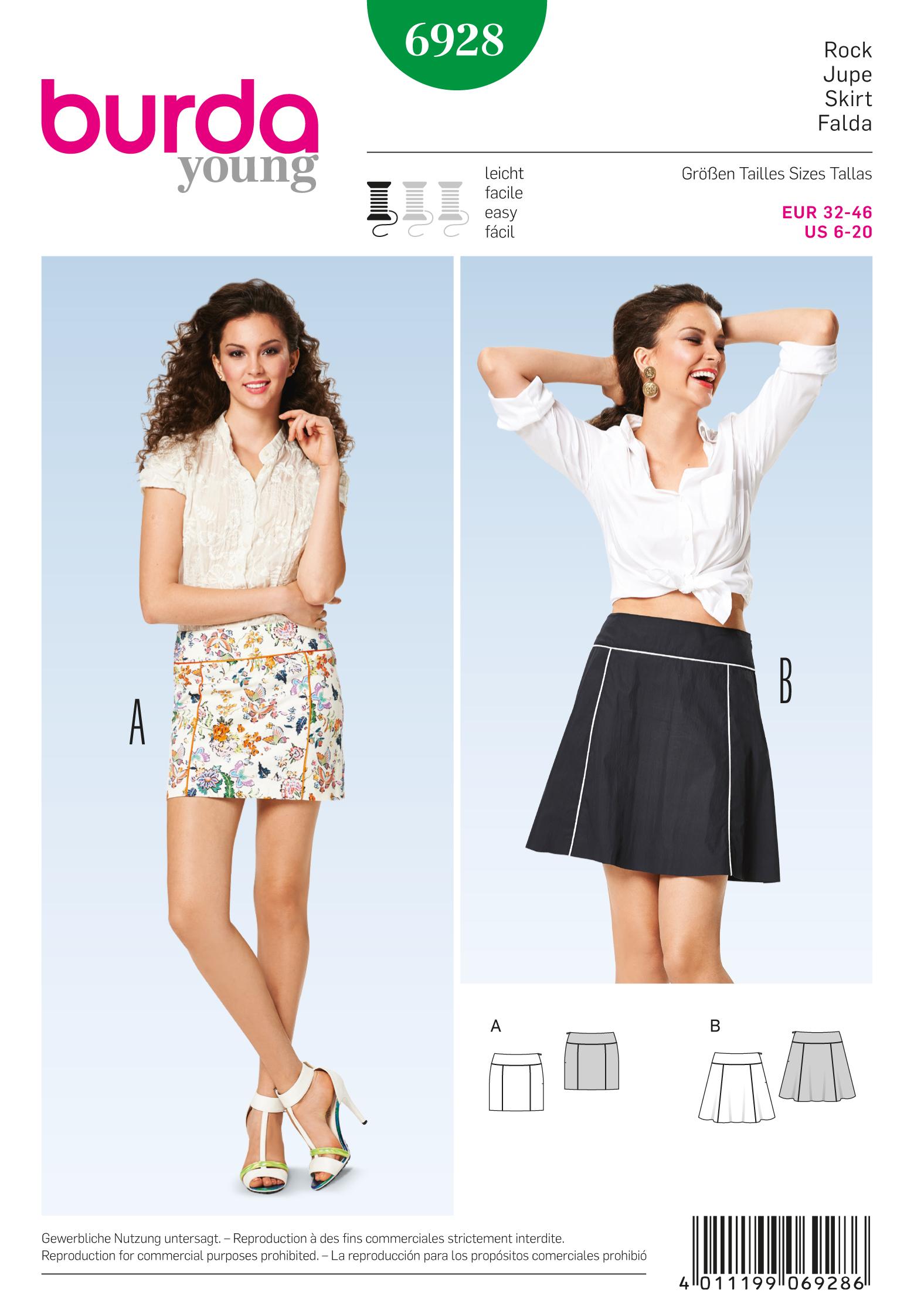 Burda Skirts 6928