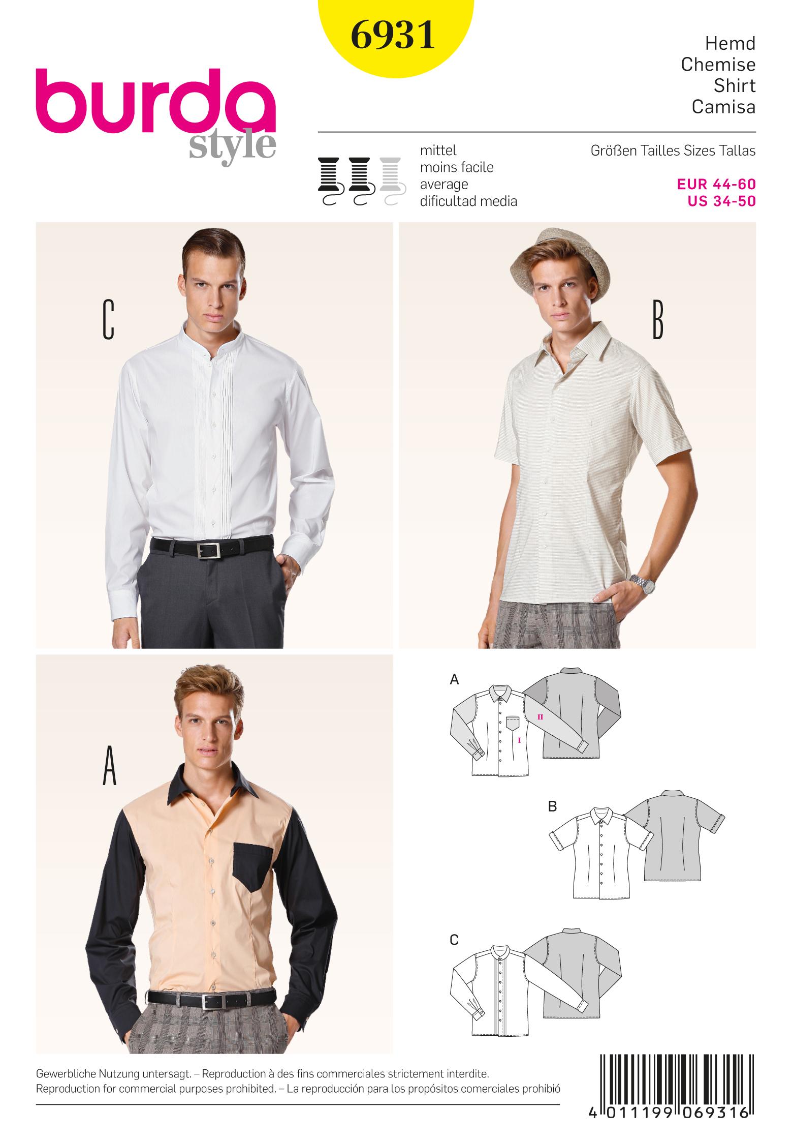 Burda Menswear 6931
