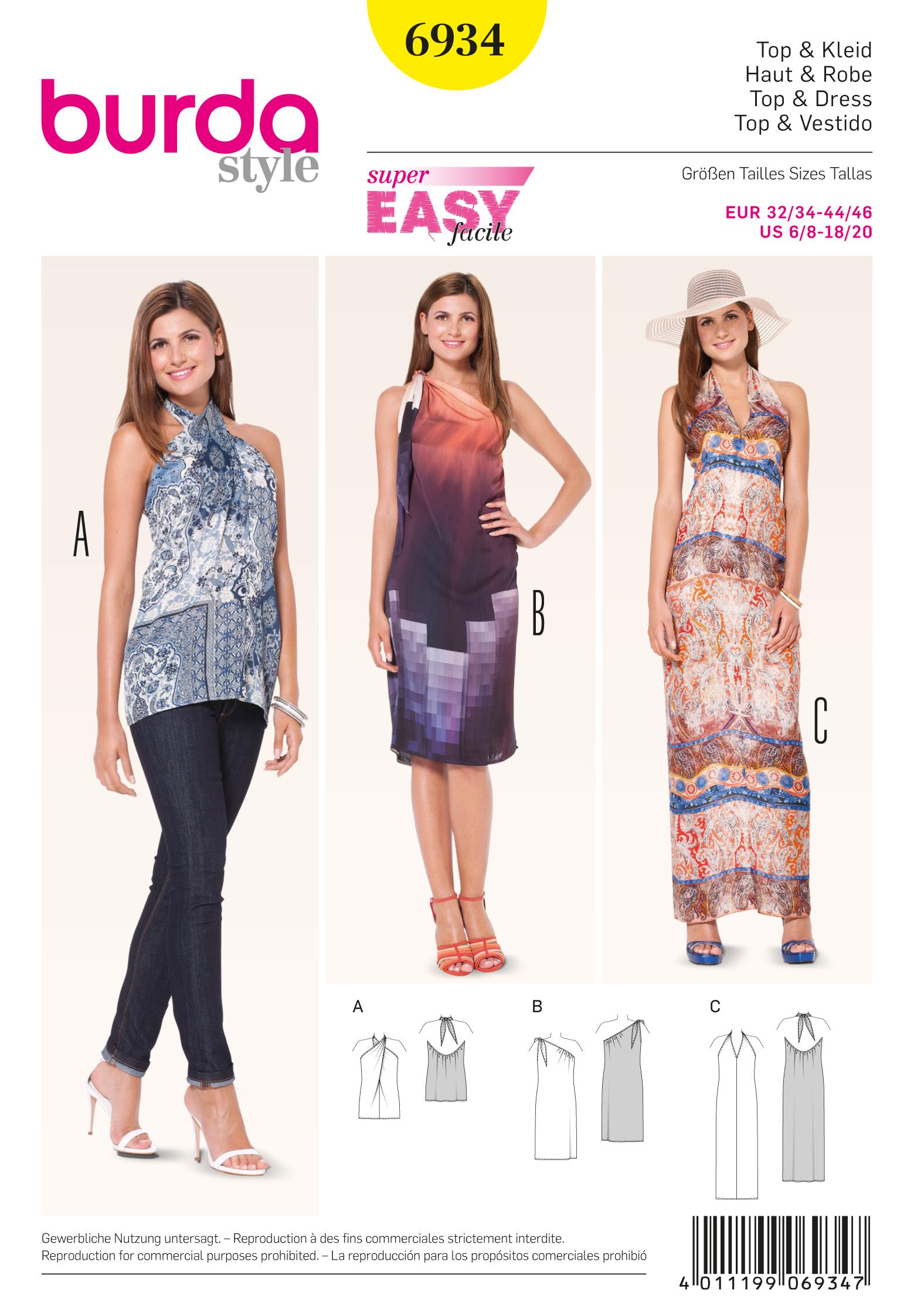 Burda Dresses 6934