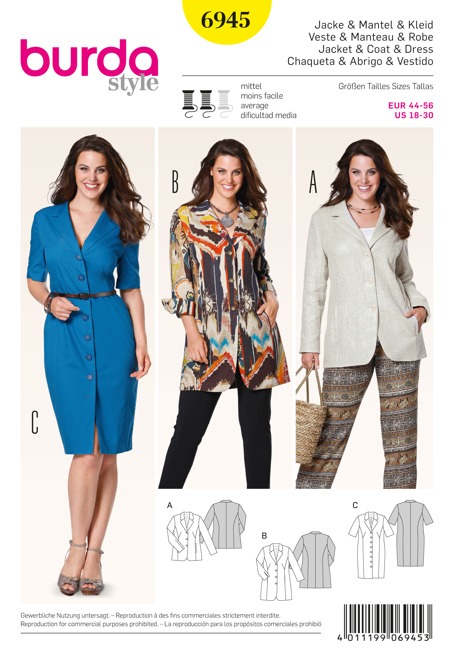 Burda Plus to size 60 6945