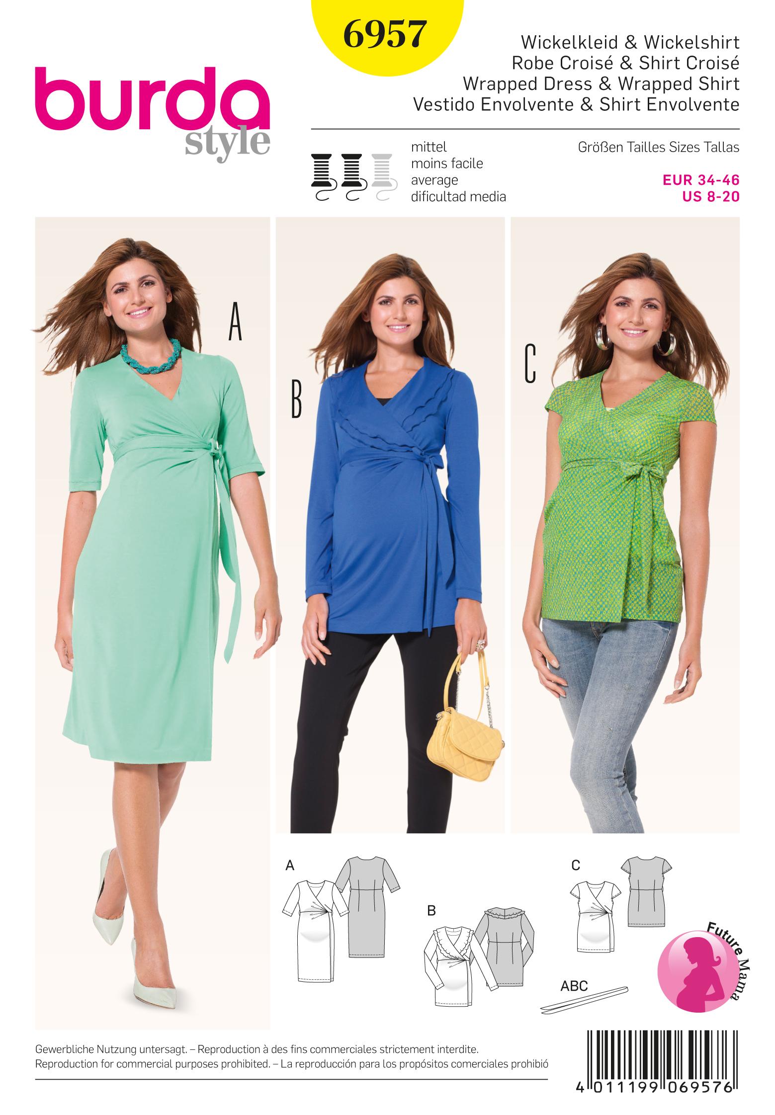 Burda Maternity Wear 6957