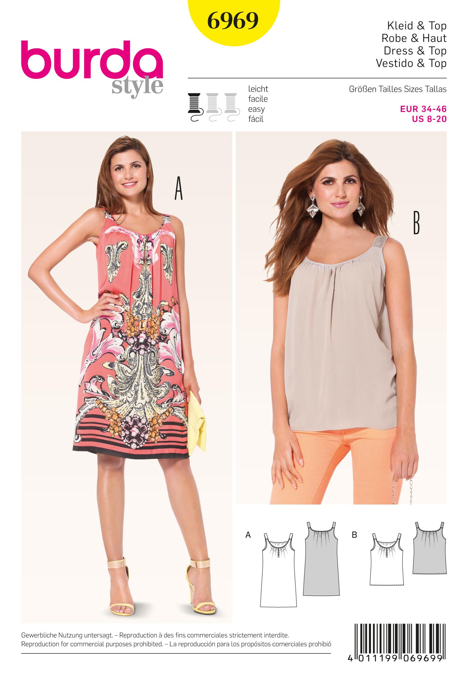 Burda Tops, Shirts, Blouses 6969