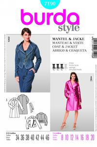Burda 7190 Pattern