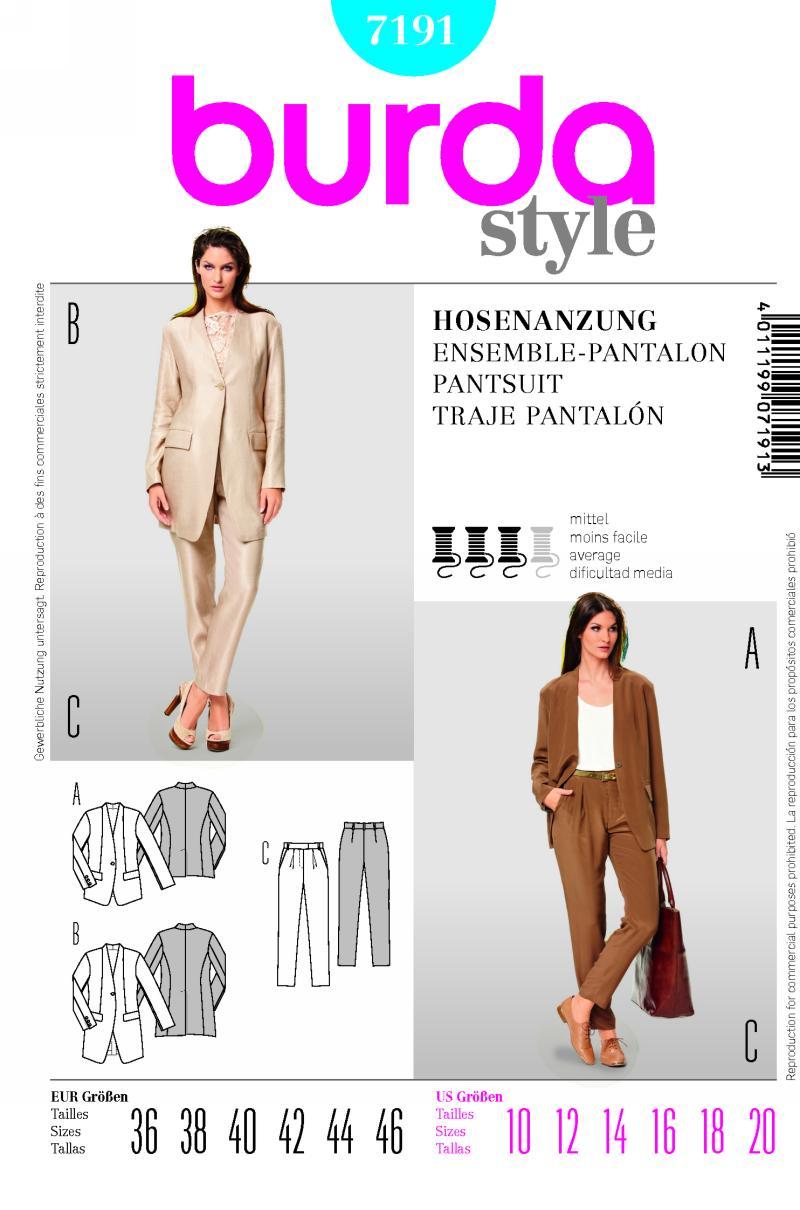 Burda Suit jacket and pants 7191