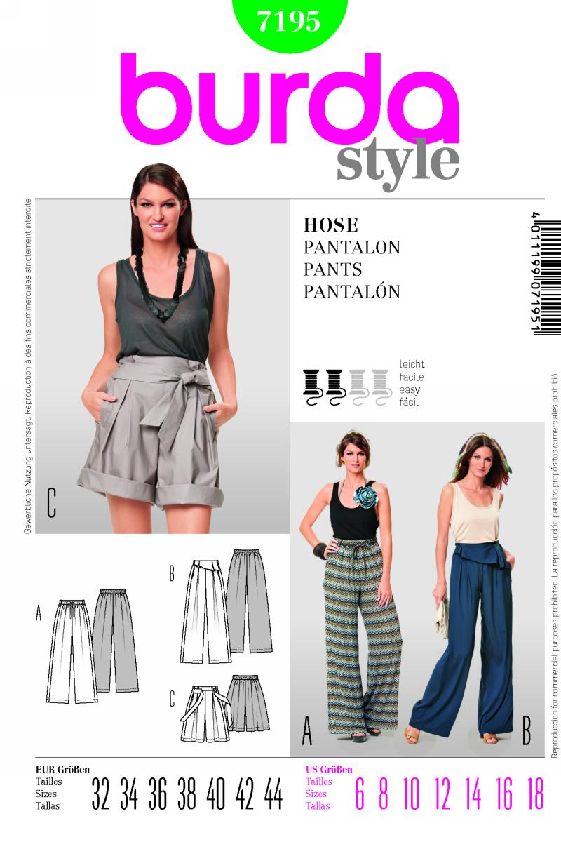 Burda Pants and Shorts 7195