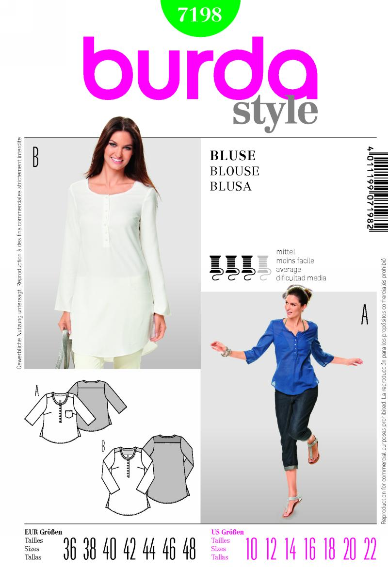 Burda blouse 7198
