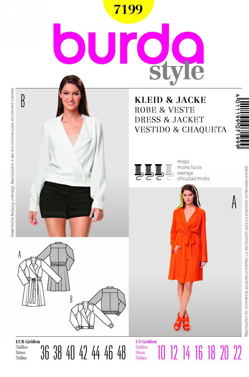Burda dress and jacket 7199