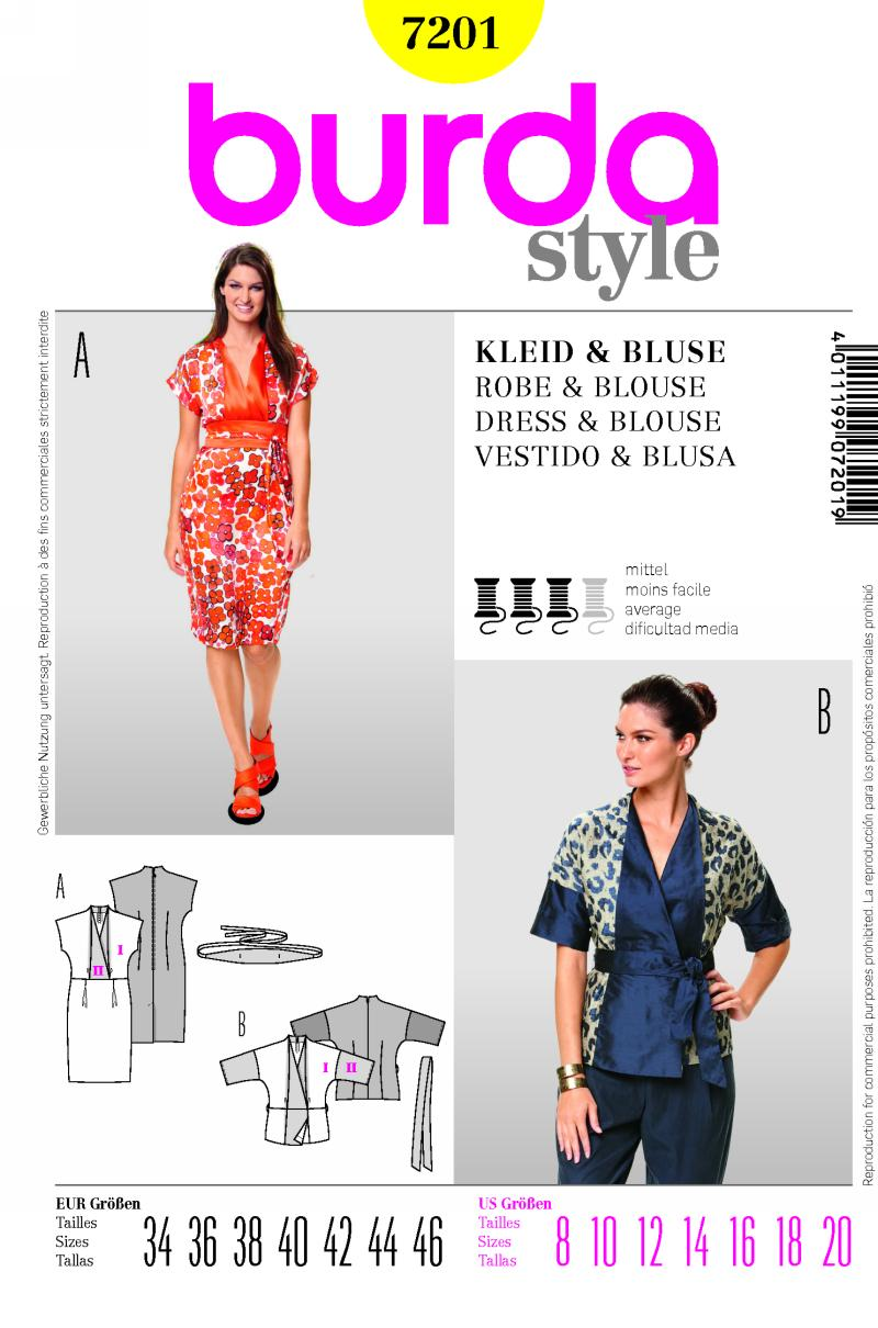 Burda dress and blouse 7201