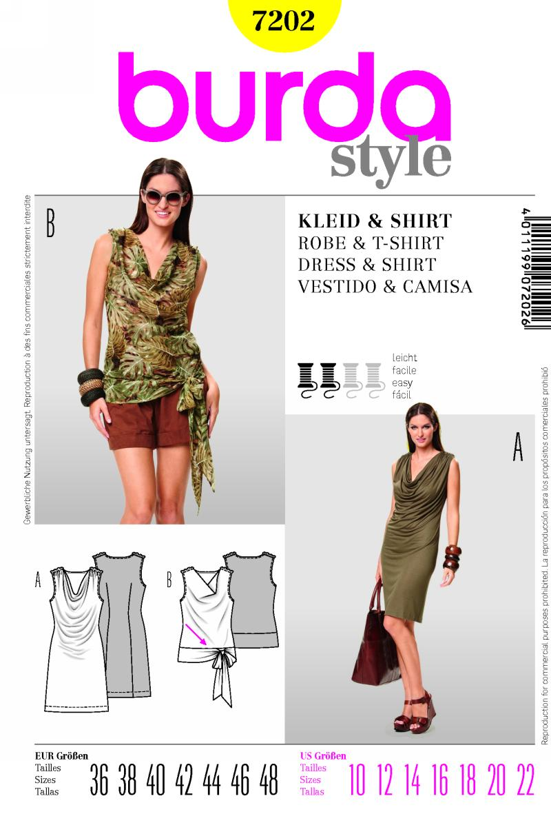 Burda dress and shirt 7202