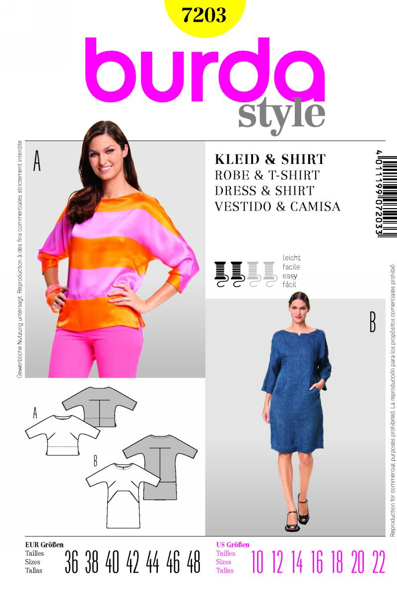 Burda dress and shirt 7203
